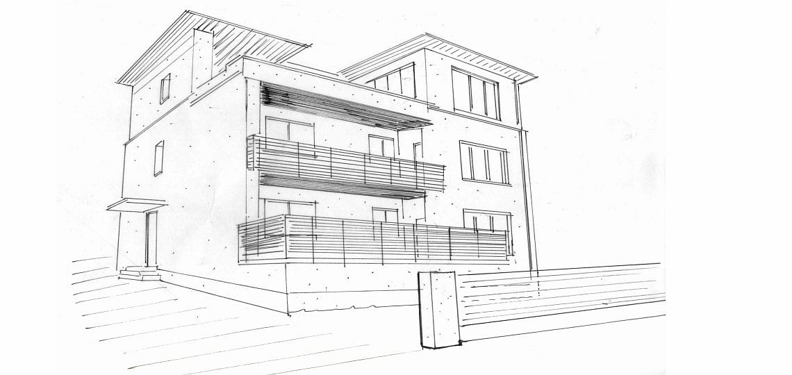 Wir bauen Gebäude geplant von Innen nach Außen und von Außen nach Innen